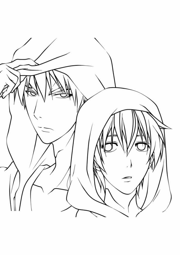 anime coloring page 11