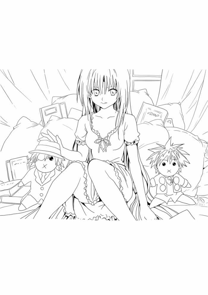 anime coloring page 3