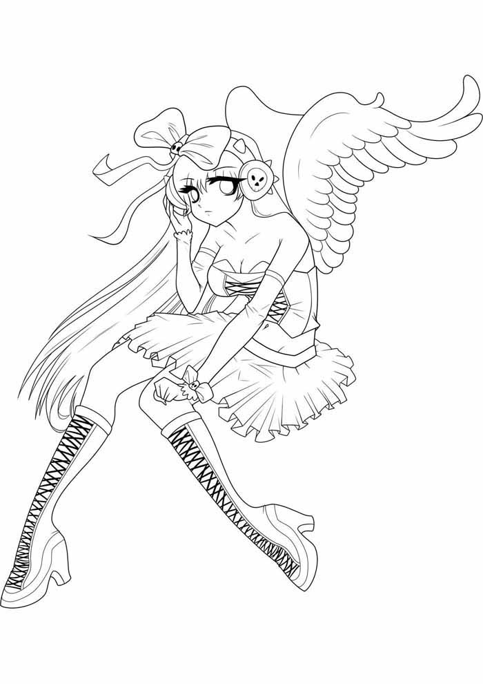 anime coloring page 4