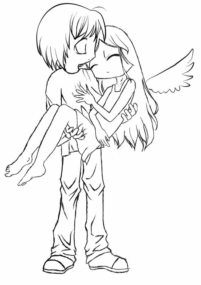 anime coloring page fallen angel