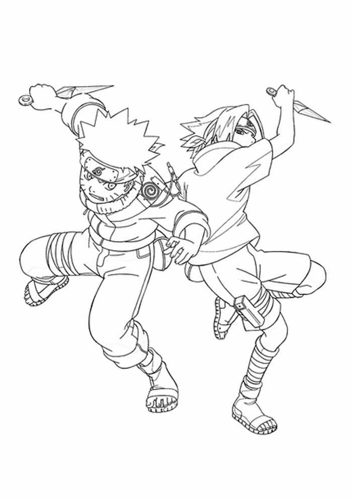 anime coloring page fighting