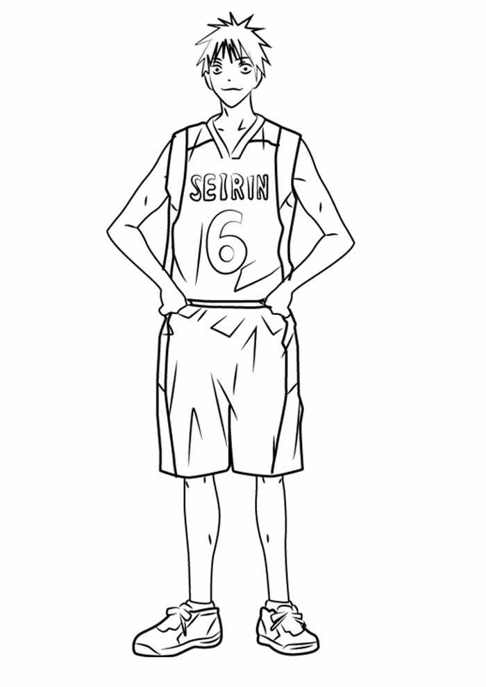 anime coloring page player