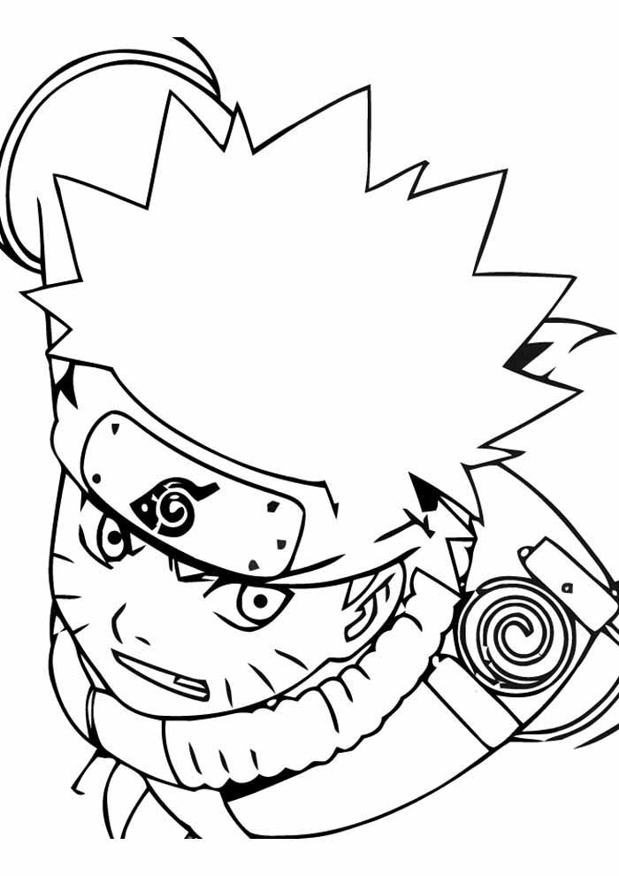 anime face naruto coloring page
