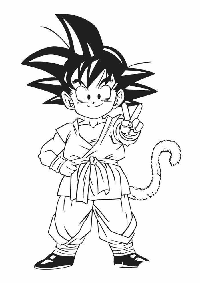 anime gohan coloring page