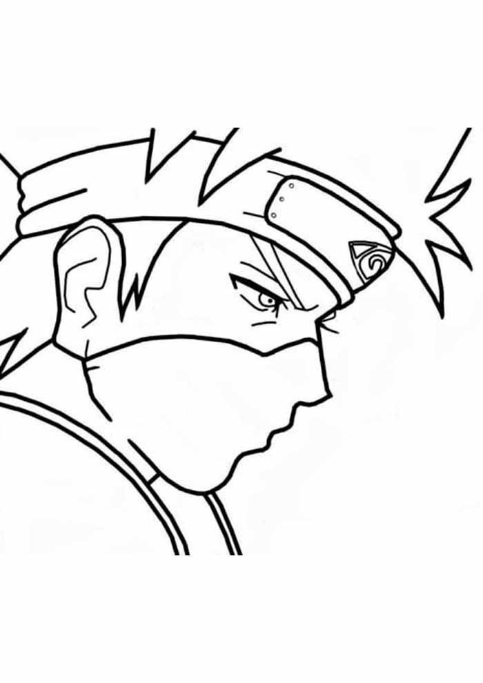 anime manga naruto coloring page
