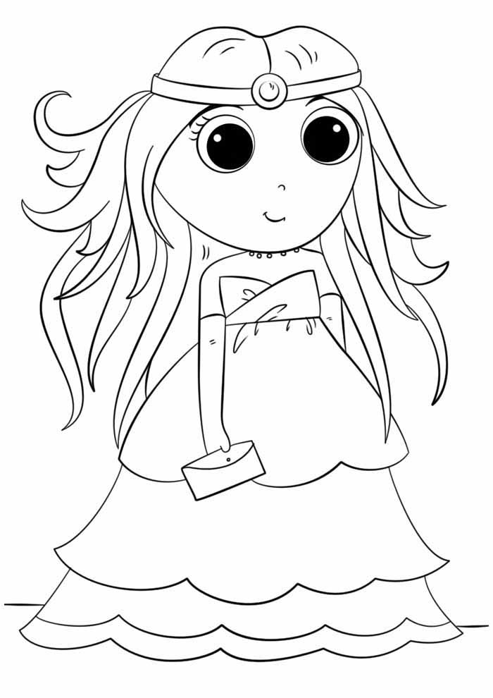 anime princess coloring page