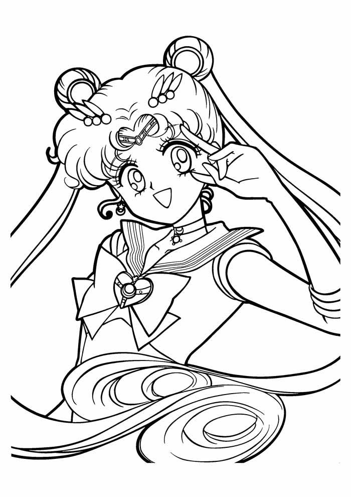 anime sailormoon coloring page