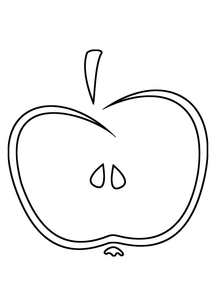 apple coloring page 1
