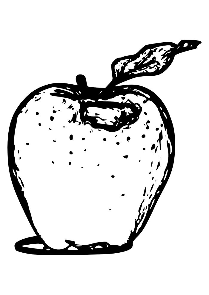 apple coloring page 10
