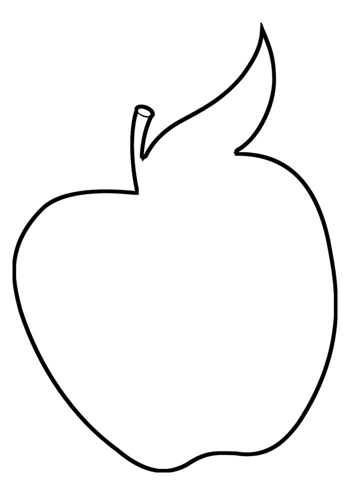 apple coloring page 11
