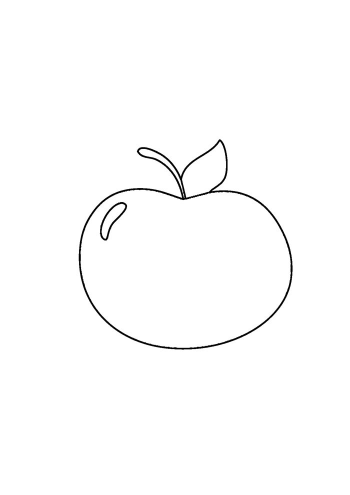 apple coloring page 12