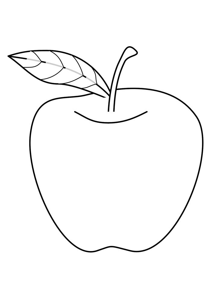 apple coloring page 13