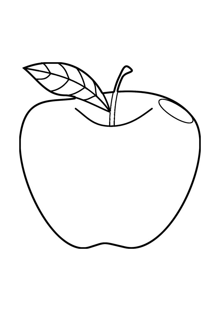 apple coloring page 14
