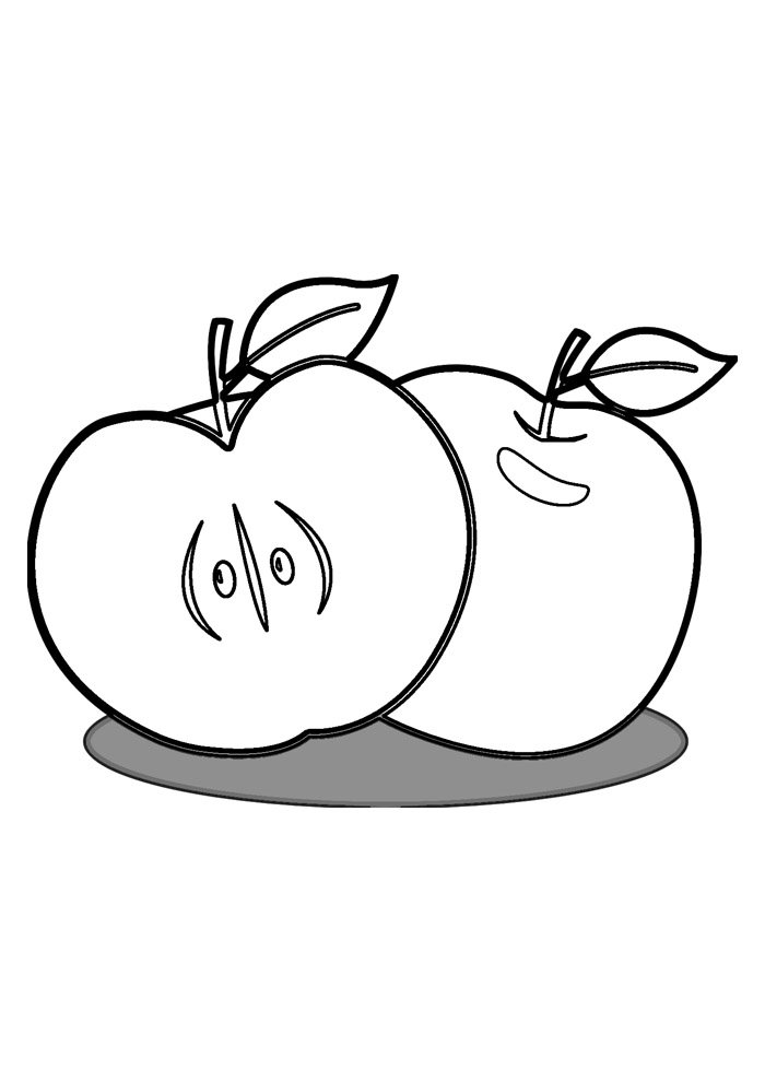 apple coloring page 16