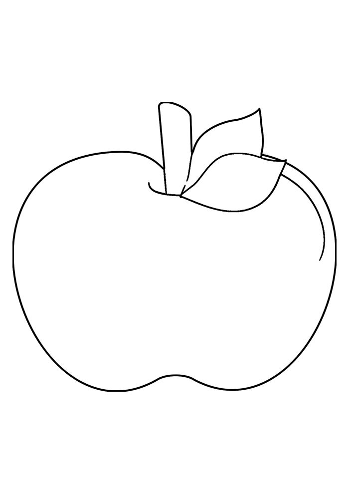 apple coloring page 17
