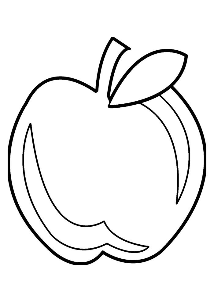 apple coloring page 18