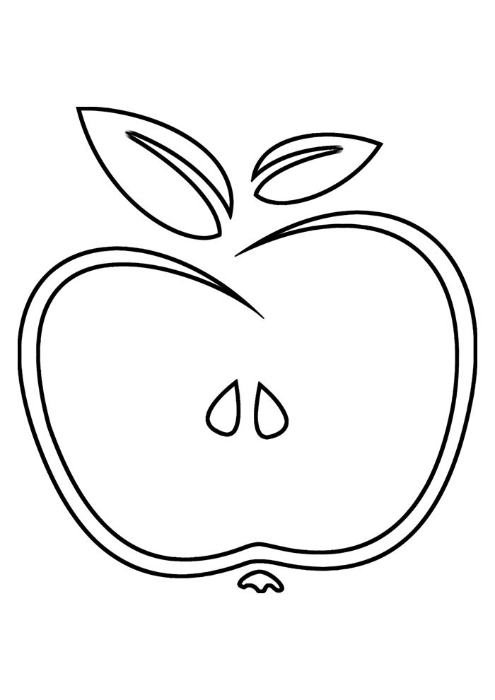 apple coloring page 2