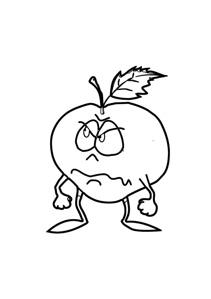 apple coloring page 21