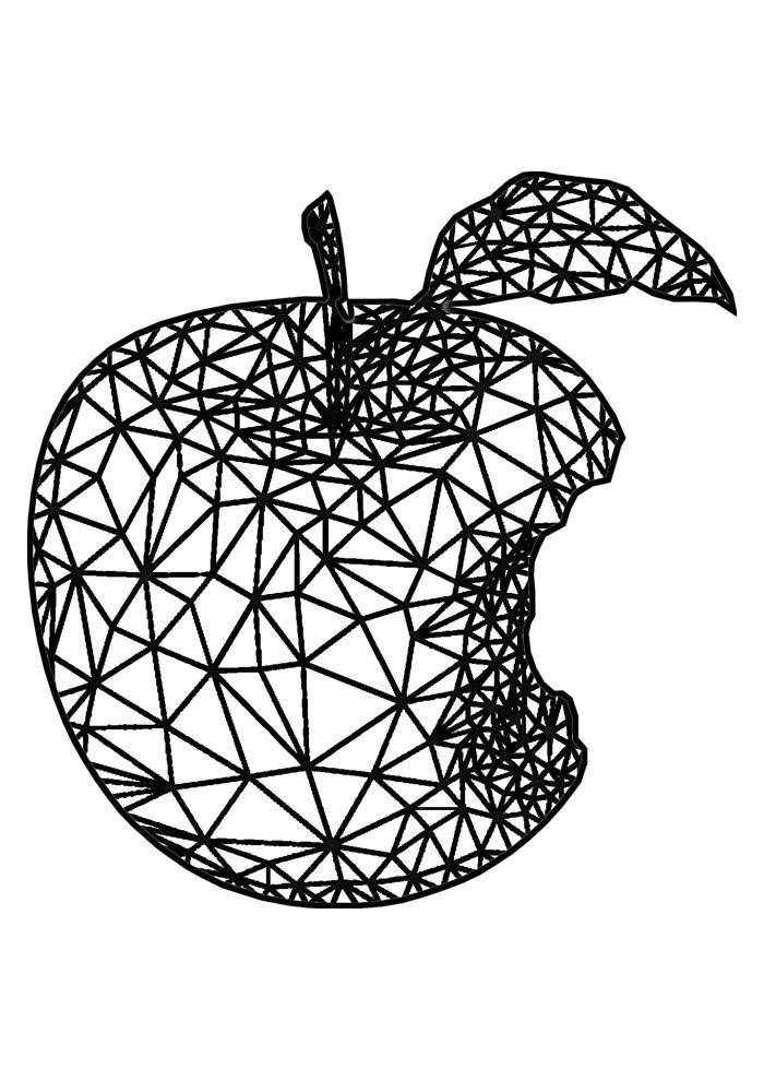 apple coloring page 22