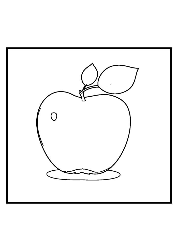 apple coloring page 23