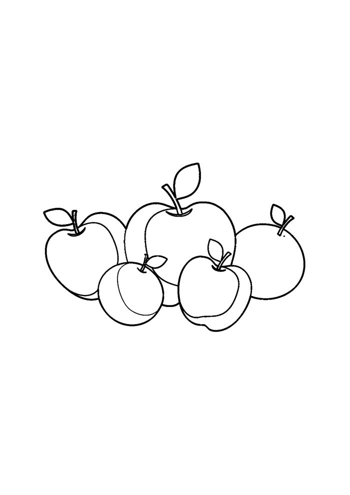 apple coloring page 25