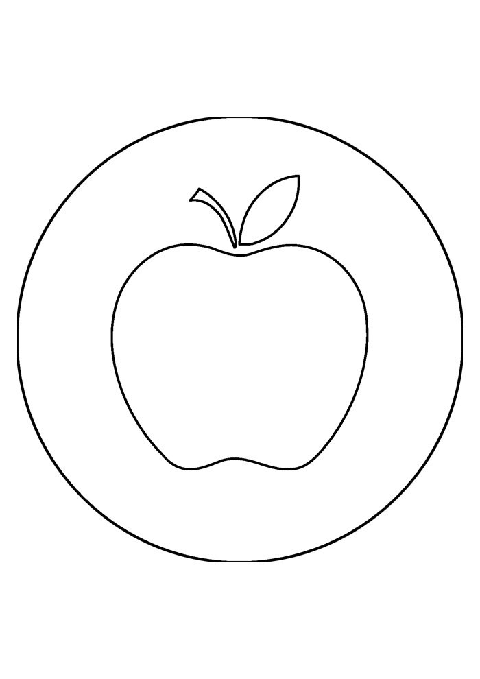 apple coloring page 26