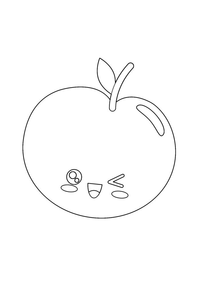 apple coloring page 27