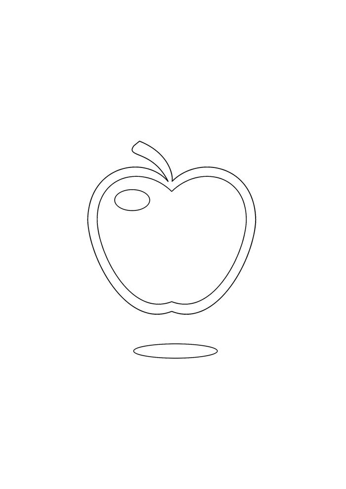 apple coloring page 28