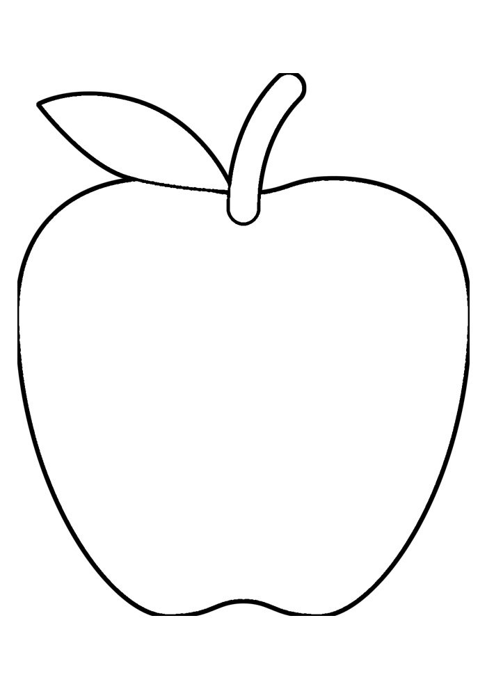 apple coloring page 29