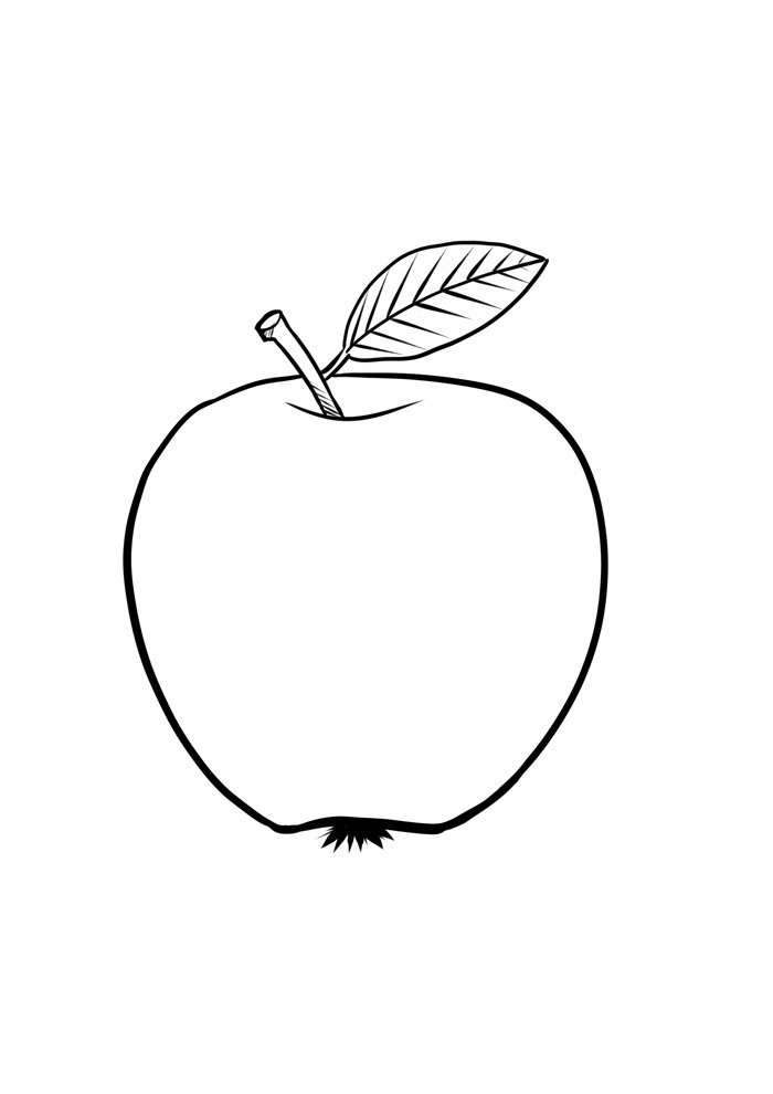 apple coloring page 32
