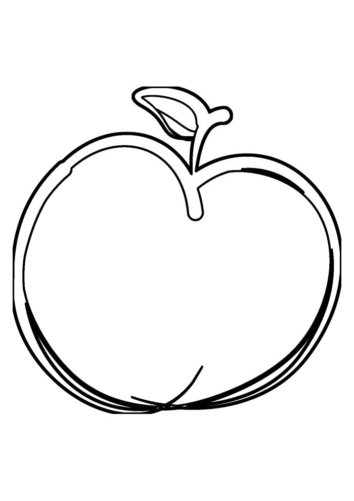 apple coloring page 34