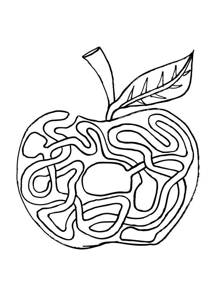 apple coloring page 38