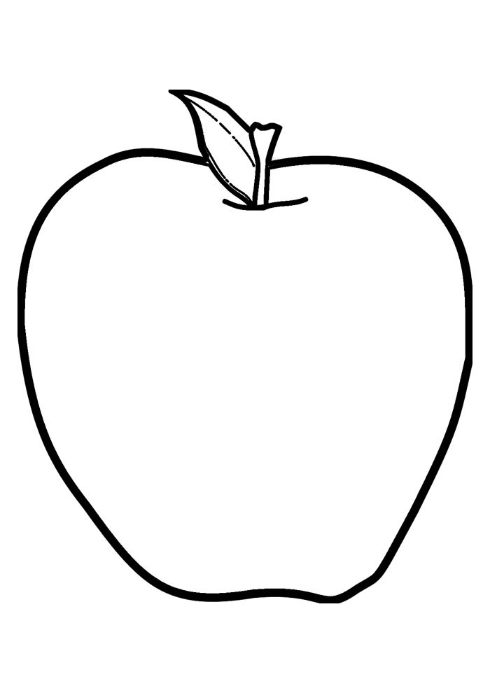 apple coloring page 4