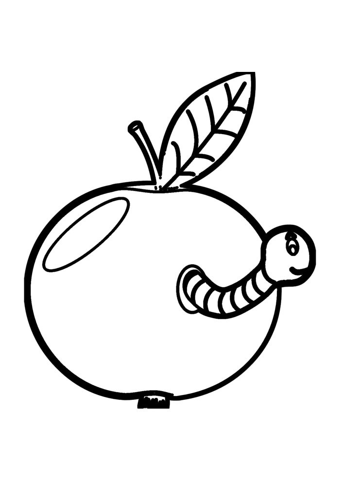 apple coloring page 40