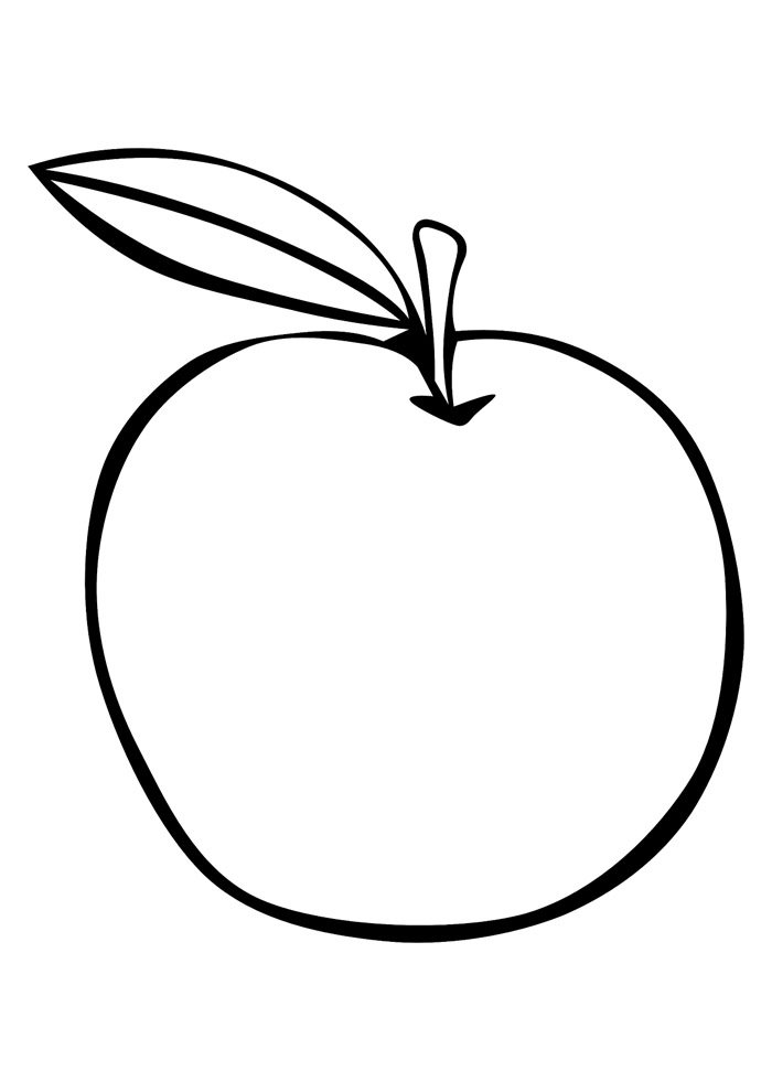 apple coloring page 5