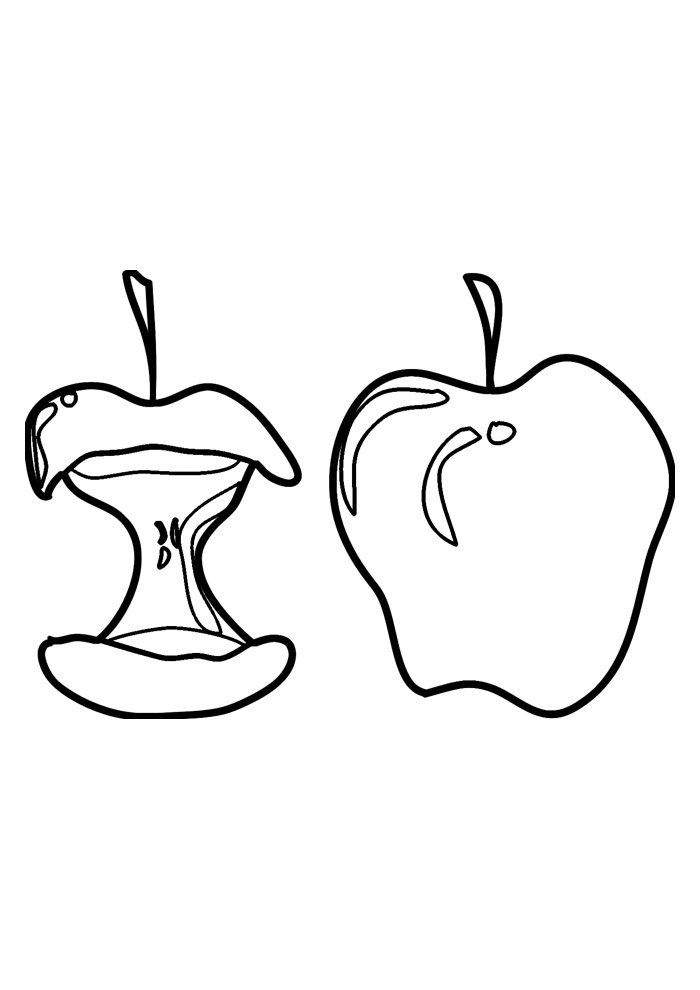 apple coloring page 8