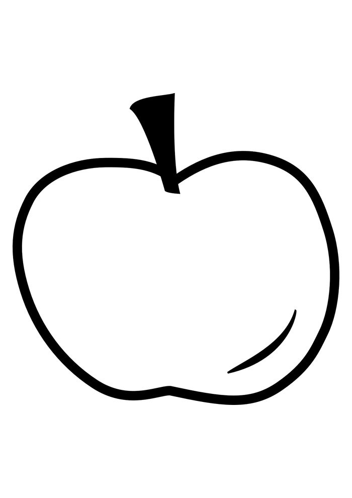 apple coloring page 9