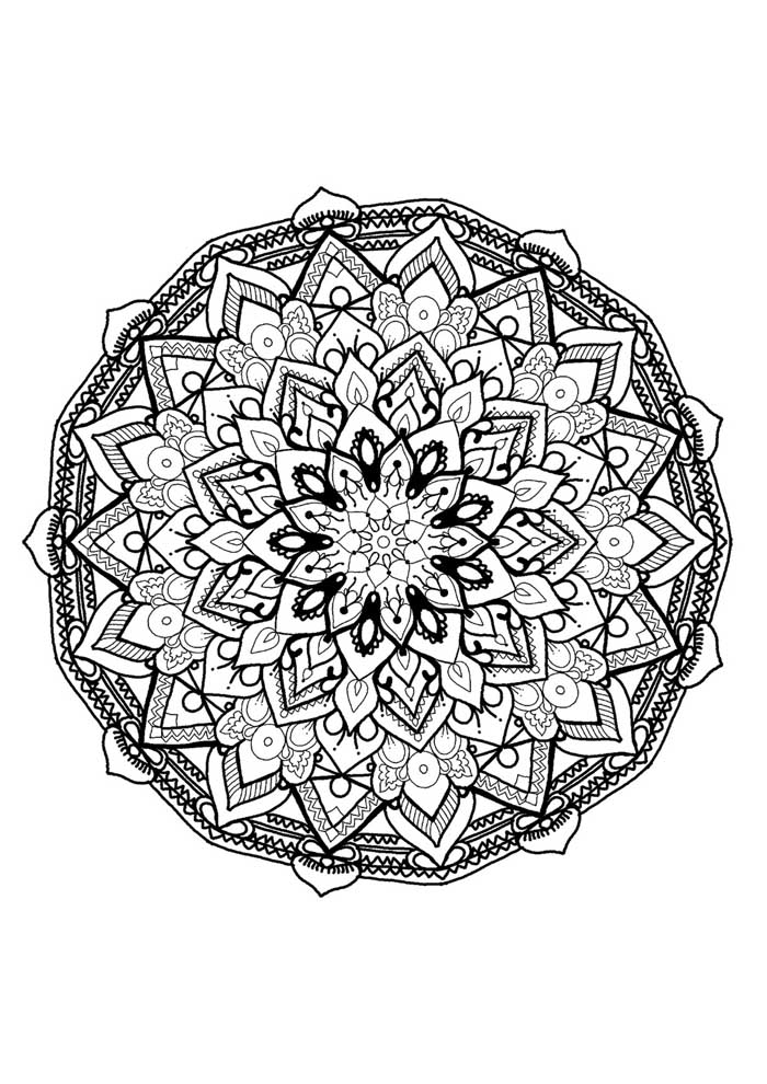 69 Ausmalbilder Mandala Coloring Pages