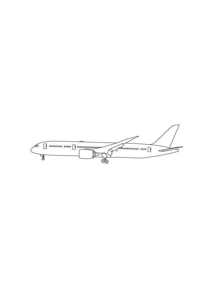 avion para colorear 1