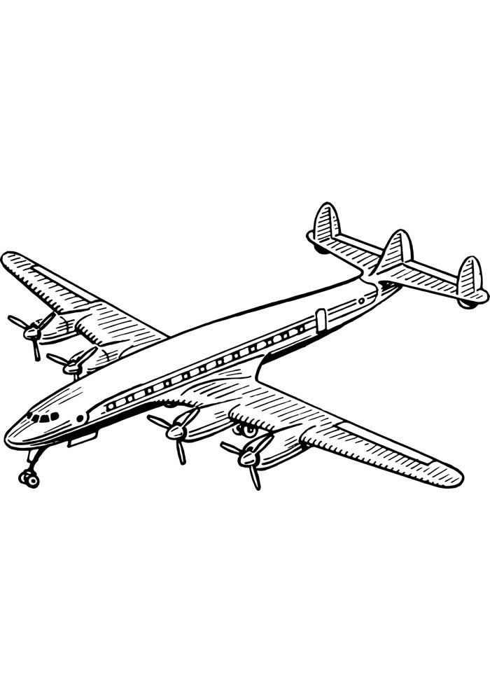 avion para colorear 11