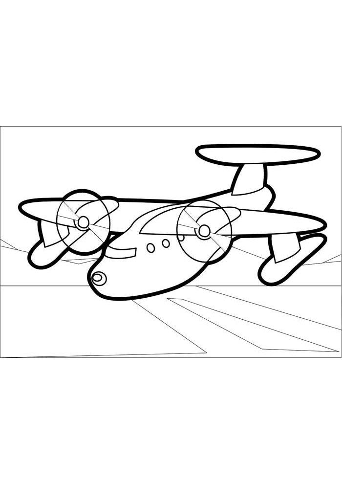 avion para colorear 12