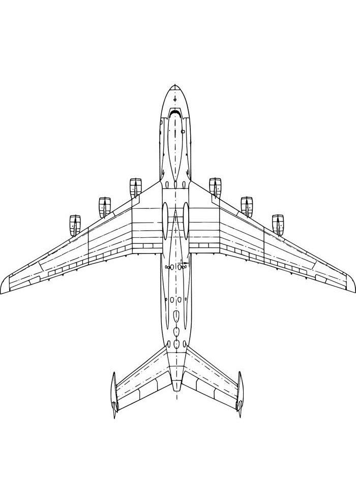 avion para colorear 13