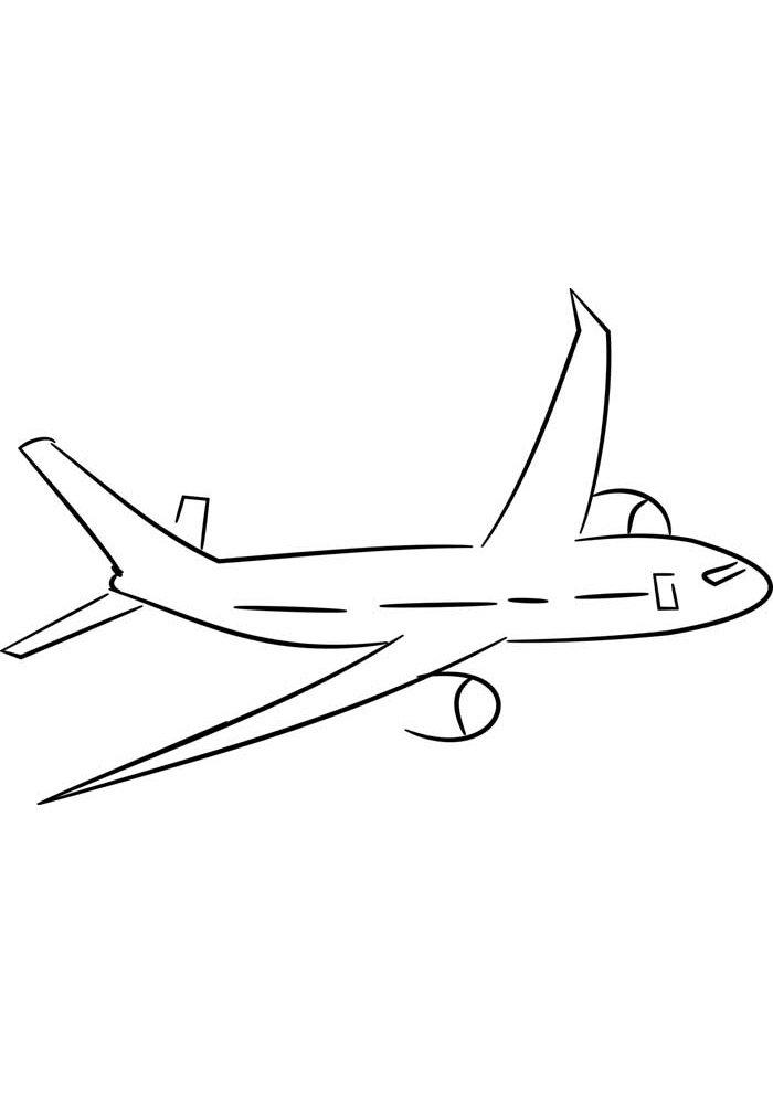 avion para colorear 15