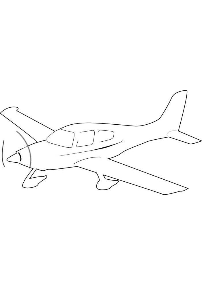 avion para colorear 16