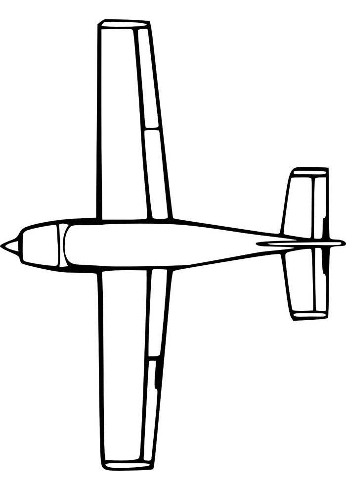 avion para colorear 17