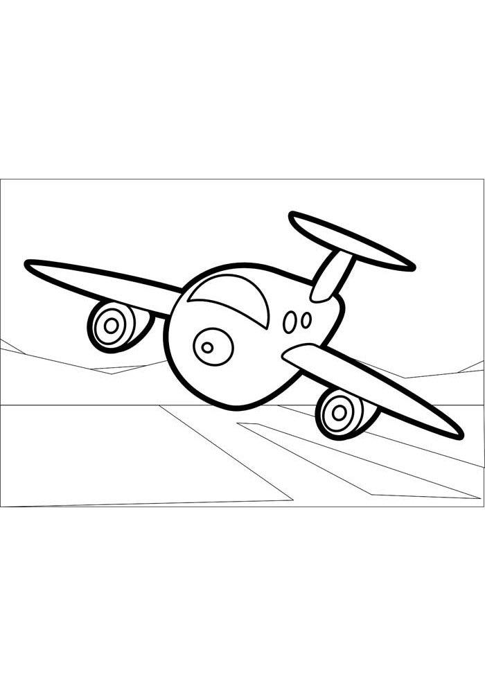 avion para colorear 18
