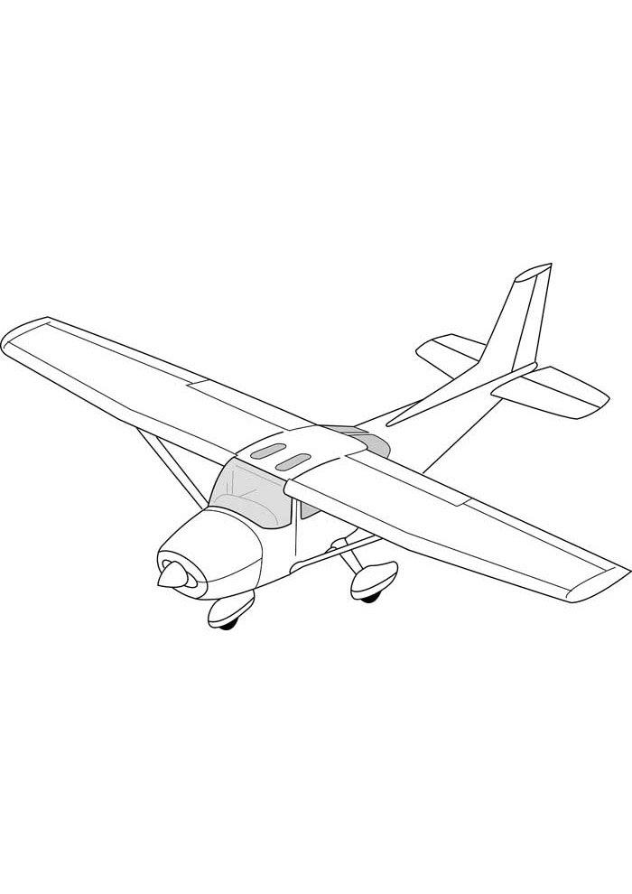 avion para colorear 19