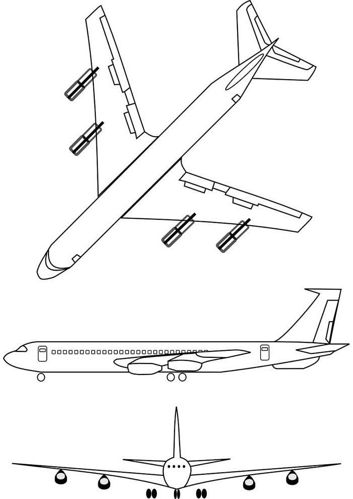 avion para colorear 20
