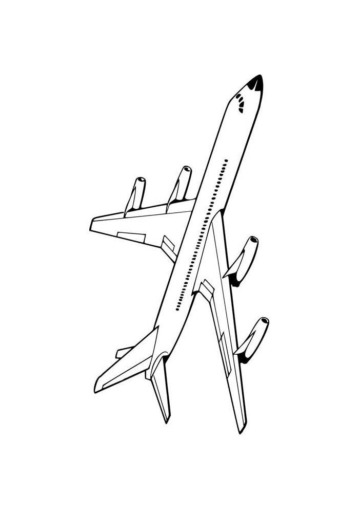 avion para colorear 22