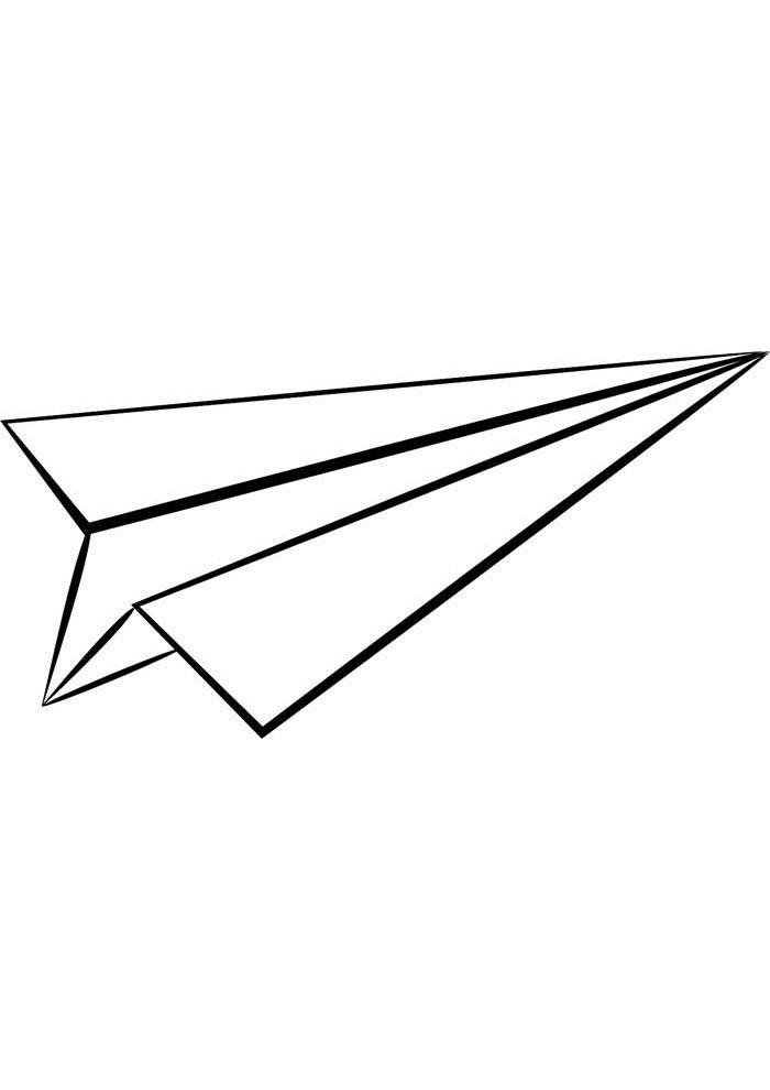 avion para colorear 25